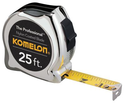 KOMELON USA Professional Series Power Tapes, 1 in x 25 ft, Inch/Metric, Yellow/Black