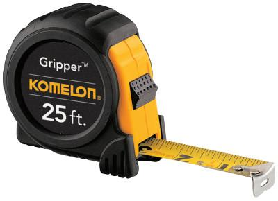KOMELON USA Gripper™ Series Power Tapes, 3/8 in x 100 ft, Inch/Metric, Yellow/Black