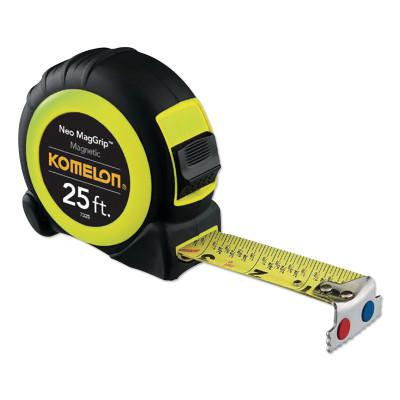 KOMELON USA Neo MagGrip™ Magnetic Tapes, 1 in x 25 ft, Inch/Metric, Yellow/Black
