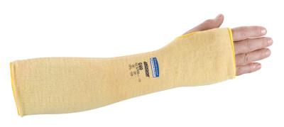 KIMBERLY-CLARK PROFESSION G60 Level 2 Cut Resistant Sleeves, With Thumbhole, 18 in Long, Yellow