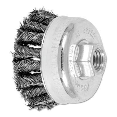 PFERD COMBITWIST Knot Wire Cup Brush, 2 3/4 in Dia., .014 in Carbon Steel Wire