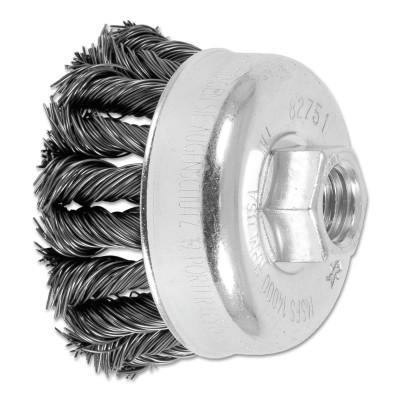 PFERD COMBITWIST Knot Wire Cup Brush, 2 3/4 in Dia., .02 in Carbon Steel Wire