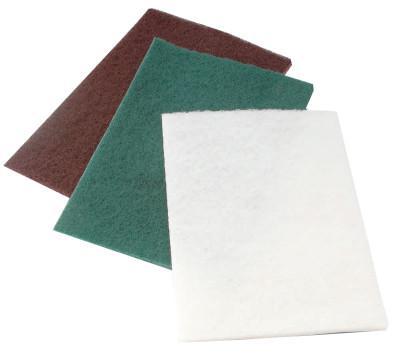 CGW ABRASIVES Non-Woven Hand Pads, Non Abrasive, White