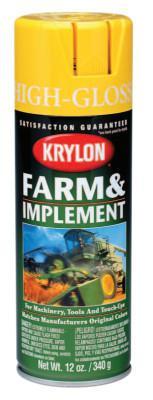 KRYLON Farm and Implement Enamel Paint, 12 oz, Old Equipment Yellow, High Gloss