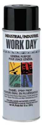 SPRAYON Industrial Work Day Enamel Paints, 16 oz Aerosol Can, Flat Black
