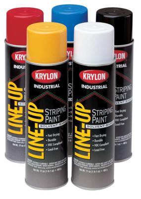 KRYLON Line-Up Pavement Striping Paints, 18 oz Aerosol Can, Firelane Red