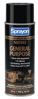 SPRAYON General-Purpose Mold Release Lubricants, 12 oz, Aerosol Can