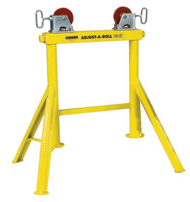 SUMNER Hi Adjust-A-Roll Stands, Aluminum Wheels, 2,000 lb Cap., 1/2 in-36 in Pipe