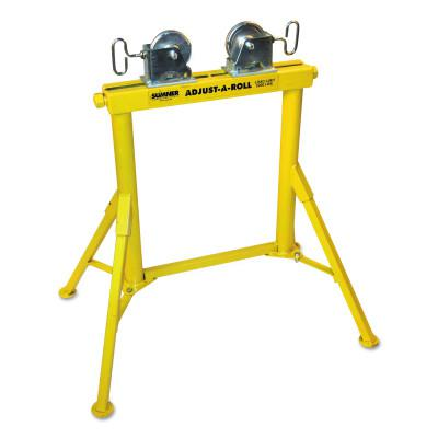 SUMNER Hi Adjust-A-Roll Stands, Steel Wheels, 2,000 lb Cap., 1/2 in-36 in Pipe, 31 in H
