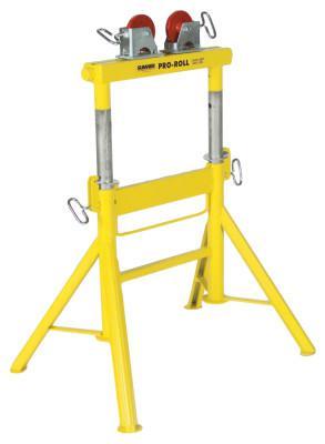 SUMNER Pro Roll Stands, Steel Wheels, 2,000 lb Cap., 1/2 in-48 in Pipe