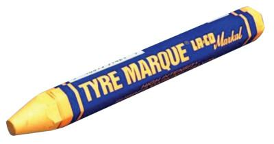 MARKAL Tyre Marque Rubber Marking Crayons, 1/2 in X 4 5/8 in, Yellow