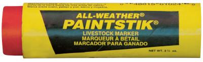 MARKAL All-Weather Paintstik Livestock Markers, 1 in X 4 in, Orange