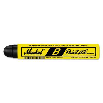 MARKAL Paintstik B Markers, 11/16 in, Black