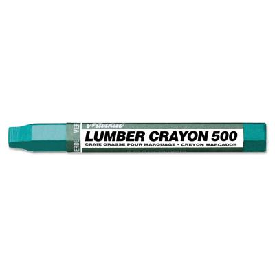 MARKAL Lumber Crayons 500, 1/2 in dia, 4-5/8 in, Green