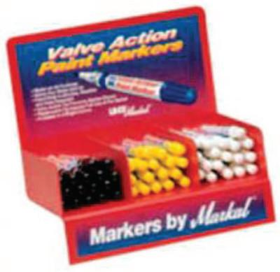 MARKAL Valve Action Paint Marker Counter Displays, White
