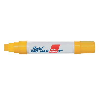 MARKAL PRO-MAX Paint Markers, Yellow, 9/16 in, Jumbo
