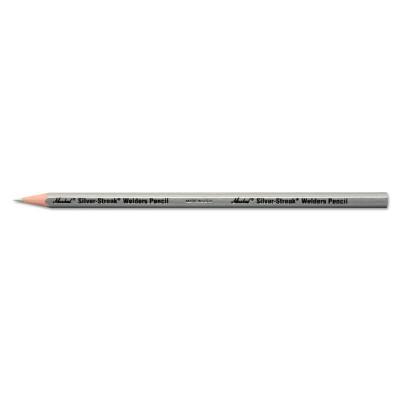 MARKAL Silver-Streak Welder's Pencils, Silver