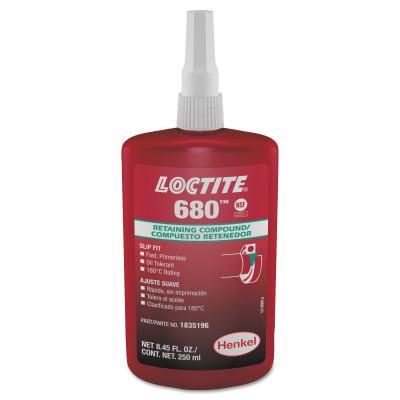 LOCTITE 680 Retaining Compound, 250 mL Bottle, Green, 4,000 psi