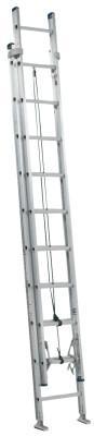 LOUISVILLE LADDER AE2000 Series Louisville Colonel Aluminum Extension Ladders, 12 ft, IA, 300 lb