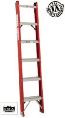 LOUISVILLE LADDER 6' FIBERGLASS CLASSIC SHELF LADDER