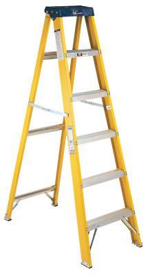 LOUISVILLE LADDER FS2000 Series Pioneer Fiberglass Step Ladder, 8 ft x 24 7/8 in, 250 lb Capacity
