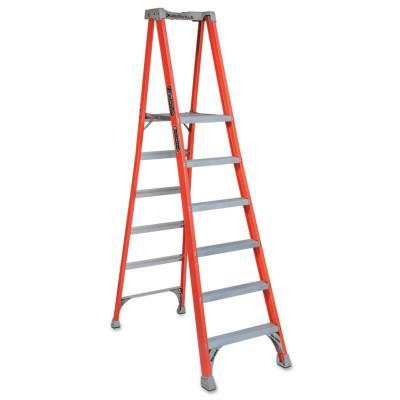 LOUISVILLE LADDER FXP1700 Series Fiberglass Pro Platform Ladder, 6 ft. x 27 3/4 in, 300 lb Cap.