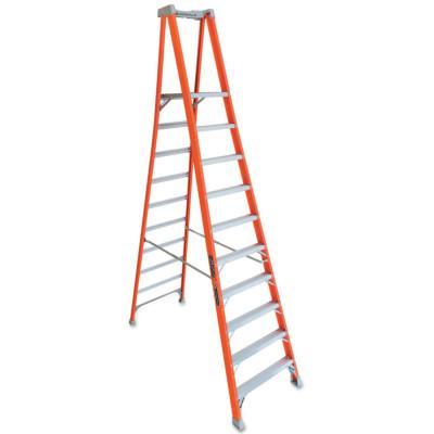 LOUISVILLE LADDER FXP1700 Series Fiberglass Pro Platform Ladder, 8 ft. x 30 7/8 in, 300 lb Cap.