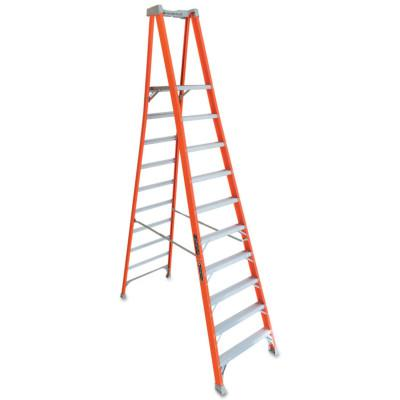 LOUISVILLE LADDER FXP1700 Series Fiberglass Pro Platform Ladder, 33 4/5 in Wide, 300 lb Capacity