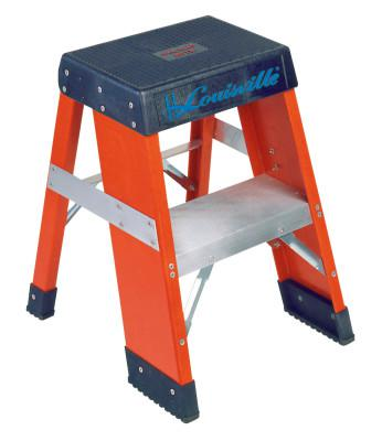 LOUISVILLE LADDER FY8000 Series Industrial Fiberglass Step Stand, 2 ft x 18 in, 300 lb Capacity
