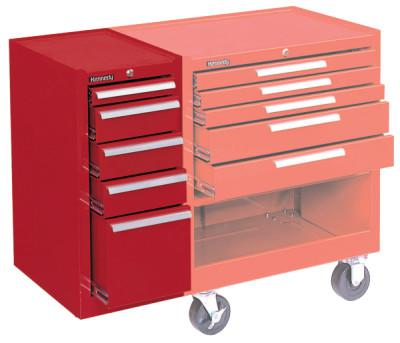 KENNEDY Hang-On Cabinets, 13 5/8 in x 18 in x 29 in, 5 Drawers, Smooth Red