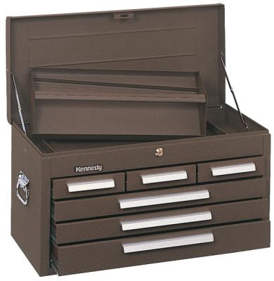 KENNEDY Standard Mechanics' Chests, 26 1/8 in x 12 in x 14 3/4 in, Brown Wrinkle