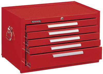 KENNEDY Snap-In Mechanics' Chests, 27 in x 18 in x 16 5/8 in, Smooth Red