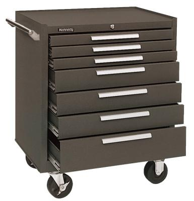 KENNEDY Industrial Series Roller Cabinets, 27 x 18 x 35, 7 Drawers, Brown , w/Slide