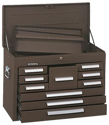 KENNEDY Standard Mechanics' Chests, 26 1/8 in x 12 1/16 in x 18 7/8 in, Brown Wrinkle