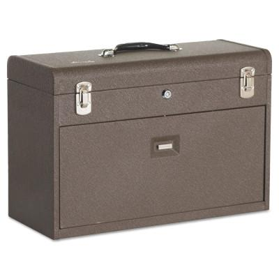 KENNEDY Machinists' Chests, 20 1/8 in x 8 1/2 in x 13 5/8 in, 1800 cu in, Brown Wrinkle