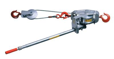 Lug-All Cable Ratchet Hoist-Winches, 3 Tons Capacity, 15 ft
