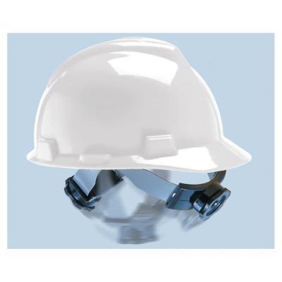 MSA V-Gard Protective Caps, Swing Ratchet, 6 1/2 - 8, White