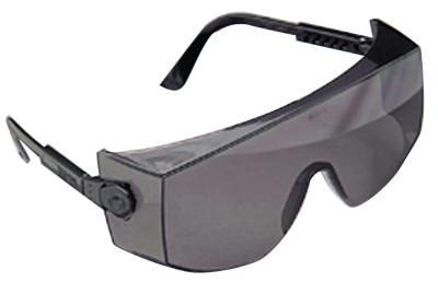 MSA Rx Overglasses, Clear Lens, Anti-Fog, Scratch-Resistant, Tuff-Stuff, Blue Frame