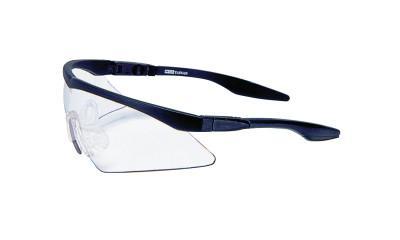MSA Aurora Protective Eyewear, Clear Lens, Black Frame