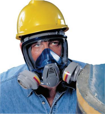 MSA Advantage® 3200 Full-Facepiece Respirator, Medium, Rubber Harness