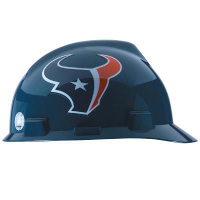 MSA Officially-Licensed NFL V-Gard Helmets, 1-Touch, Houston Texans Logo