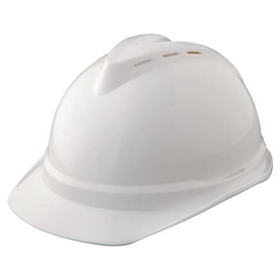 MSA V-Gard 500 Protective Caps, 4 Point Fas-Trac, White