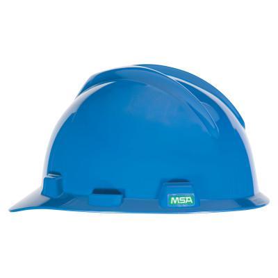 MSA V-Gard 500 Protective Caps, 4 Point Fas-Trac, Blue