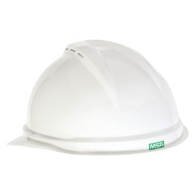 MSA V-Gard 500 Protective Caps, 6 Point Fas-Trac, White