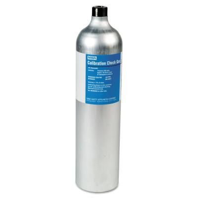MSA RP Reactive Gas Calibration Cylinder, 58 L, 1.45% CH4, 15% O2, 60 PPM CO, 20 PPM H2S, Aluminum