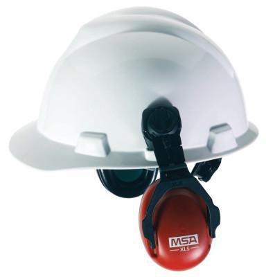 MSA Sound Control Cap Earmuffs, 22 dB NRR, Red, Cap-Mounted