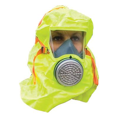 MSA S-CAP Hoods, Escape Hood, PVC, Includes Donning Instructions and Foil Bag