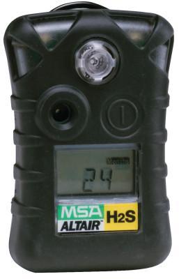 MSA ALTAIR® Single-Gas Detector, Hydrogen Sulfide (H2S), 0 to 100 ppm Sensor Range, Audible/Visual/Vibrating Alarm Type