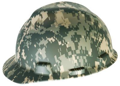 MSA Freedom Series Helmets, Fas-Trac Ratchet, Cap, Camouflage