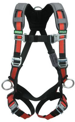 MSA EVOTECH Full Body Harnesses, D-Ring Back, Vest; Shoulder Padding, Standard